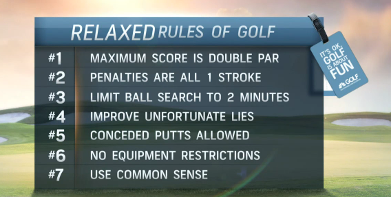 Relaxed Rules Of Golf