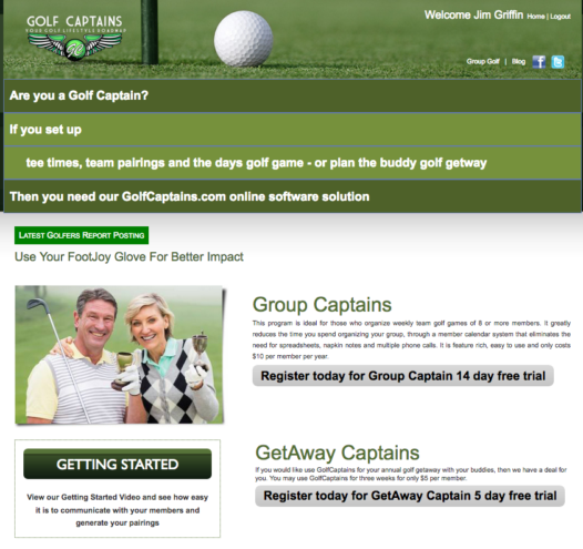 GolfCaptains Home Page